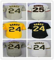 men' s Barry Bonds Jersey Cooperstown Jerseys Grey Pinst...