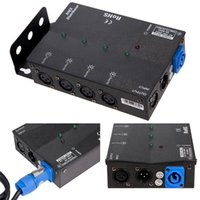 MFL. 4 Way Isolated DMX Splitter Amplifier Distributor with ...