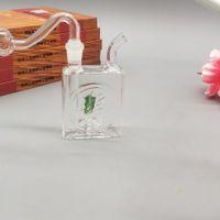 Новый тип небольшой ящик для сигарет стеклянная труба для воды стеклянный горшок трубы для воды стеклянный горшок бонг полный набор аксессуаров