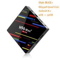 Android TV Box H96 Max Plus Android 8.1 OS 4G RAM 32G ROM RK3328 Quad Core 2.4G WIFI Smart TV Box USB 3.0 H.265 4K Lecteur multimédia