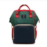 Мода Мумия материнства Пеленки сумка Большой Nursing сумка для путешествий Рюкзак Конструктор прогулочная коляска младенца мешка Baby Care подгузник рюкзак