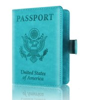DHL Passport Holder Travel ID Card Cover Case Leather RFID B...