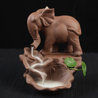 Elephant Backflow Incense Burner With 10Pcs Incense Cones Pu...