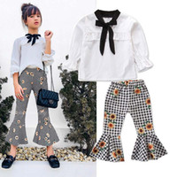 Fashion Girls Outfits Spring Autumn White long sleeve shirt+...