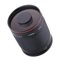 Lente de espejo telefoto de 500 mm F / 8.0 con anillo adaptador T2 para cámara de cañón 550D 650D 70D 60D 7D 7D2 Cámara de 760D 77D 80D DSLR
