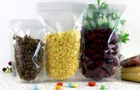 24 * 35 + 5 cm bolsa de mylar tamaño reutilizable reutilizable de alto rango de altas bolsas de plástico transparentes claras bolsas autoseladas