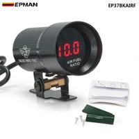 EPMAN - - 37mm COMPACT MICRO DIGITAL SMOKED AIR / FUEL RATIO GAUGE GAUGE UNIVERSAL 4-6-8 CYLINDER ENGINES EP37BKAIRF