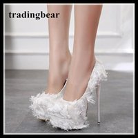 16cm white ferthers wine red wedding shoes ladies platform s...