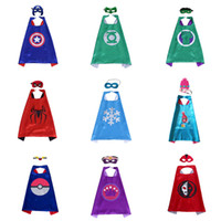 58 Style Double Layer Capes Masks Superhero Capes Masks Trol...