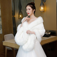 2019 Winter Wedding Coat Bridal Faux Fur Wraps Warm shawls O...