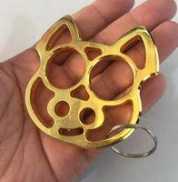 свинья брелок тигр rigng палец защитное снаряжение брелок сохранить оборудование открытый сейф двойной ручной инструмент кулак костяшки железа кулак