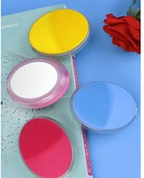 Silicone Cleansing Brushes with Mirror Electric Wash Brush F...