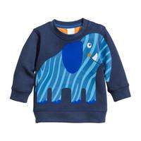 Little maven 2-7Years Herbst Kinder Jungen Elefanten Muster Sweatshirts Für Babys Kinder Herbst Kleidung Für Jungen Kleidung