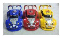 Musik LED-Licht CA Auto Ziehen Zurückdrücke Modell Autos Mini Cartoon Modell Autos Spielzeug Kinder Spielzeug