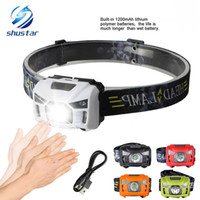 Shustar 5W LED Body Motion Sensor Headlamp Mini Headlight Re...