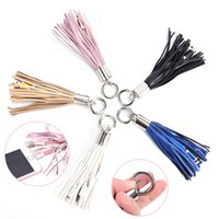 Novelty USB Cable Leather Tassel Keychain Mini Fast Charger ...