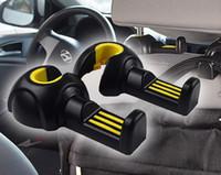 أكياس مقعد السيارة العالمي زجاجات الملابس معلقة هوك الداخلية التبعي البلاستيك السيارات المقعد الخلفي وسادة مريحة هوك