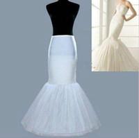 Nueva llegada 1 Hoop Fishtail Sirmaid Falda Vestido de novia Crinoline Petipoat Slips Blanco para mujer Chica
