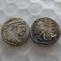 РМ(02)Улисс с его собака Аргус. МАМИЛИЙ редкая монета Римской республики денарий хорошее качество монеты розничная / вся продажа Бесплатная доставка