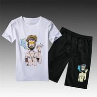 Sommer Trainingsanzug Neue Männer Sport Kurzen Anzug Männer Mode Shorts Set Männer Ausbildung Casual Anzug Zum Verkauf