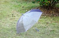 Chegada nova Transparente Claro EVC Guarda-chuva Longo Lidar Com Chuva Umbrella Ver Através Guarda-chuva Colorido À Prova de Chuva Foto Do Casamento