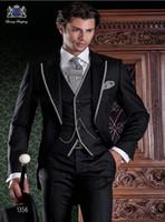 Acheter En 2015 Patron De Haute Couture Classique Costume Noir De