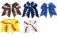 "New 7"" Large Softball Team Baseball Cheer Bows Handmade..."