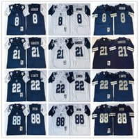 8 Troy Aikman 12 Roger Staubach 21 Deion Sanders 22 Emmitt Smith 33 Tony  Dorsett 88 Michael Irvin High Quality football Jerseys Men 39af0026d