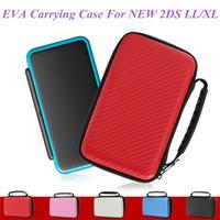 5 Color EVA Cubierta Dura Llevar Bolso Para Nueva 2DS LL XL Bolsa de Transporte de Fibra de Carbono Bolsa de Protección Caso DHL EL CCSME ENVÍO GRATIS