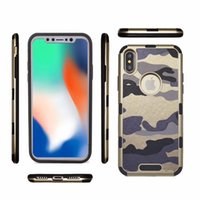 Fashion Camouflage Drop Protection Case TPU+ Leather For Ipho...