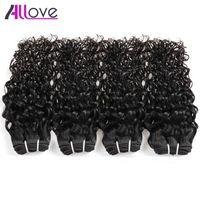 4 buntar Brasilianska Virgin Hair Water Weave Bundles Dysable Obehandlade Remy Peruvian Indian Malaysian Human Hair Extensions 10A Grade