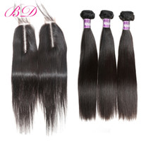 Natural Color Malaysian Unprocessed Virgin Human Hair With 2...