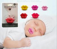 Nette lustige Schnuller-Friedensstifter-Baby-Neuheits-Mutterschafts-Kleinkind-Kind-Zahnen-Nippel lustige Lippen-Schnuller