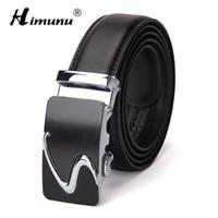 [HIMUNU] Fashion enuine Leather Man Belt High Quality Belts Men  Designer Automatic Buckle Business jeans Mens belt