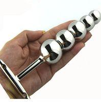 Metalowy hak analny Plug z pięcioma kulkami, Dildo Anal Prostate Plug Steel nierdzewna Seks