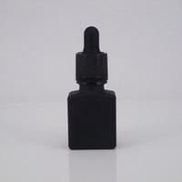 15 ml 30 ml cuadrado negro mate vacío 15 ml botella cuentagotas de vidrio con tapas a prueba de niños para e-juice bottle bottle bottle bottle