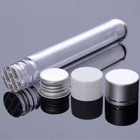 500 adet / grup 25 ml Plastik Tüp Şişe Alüminyum Vidalı Kapak Boş Doldurulabilir Örnek Test Pot Şeker Kutusu Düğün Parti Malzemeleri