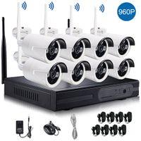 1280 * 960P شبكة لاسلكية / IP كاميرا 8CH 960P HD واي فاي NVR AUTO-PAIR اللاسلكي الدوائر التلفزيونية المغلقة وأنظمة المراقبة أمن الوطن