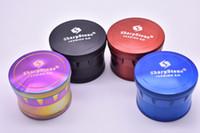 قوس قزح عشب طاحونة المعادن SharpStone 4 أجزاء الصلب أعلى التبغ المطاحن القطر 6 ألوان طاحونة التبغ Sharpstone الإصدار 2.0