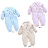 Thickened Star Lapel Children Winter Jumpsuit Newborn Baby S...