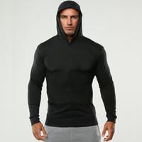 2018New tarzı Yüksek kalite Moda rahat pamuk spor Aktif uzun kollu hoodies T-shirt erkek kazak Jumper kazak M-2XL
