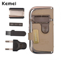 2 in 1 Kemei Men' s Electric Shavers Razors Vintage Leat...