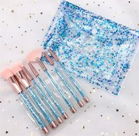 Drop makeup brushes sets cosmetics brush 7 pcs bright colors...