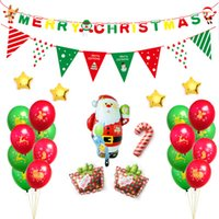 Christmas Indoor Decorations Balloons Santa Claus Party Ball...