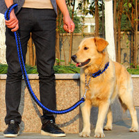Collare di cane regolabile in nylon di alta qualità con collare morbido per cani di grossa taglia Pet Endure Bite Leash P catena di corda