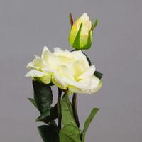 Искусственные Цветы Real Touch Fake Rose 2 Heads Peony Высококачественные Декоративные Цветы Свадебный Букет Home Decor 6 Шт. / Лот