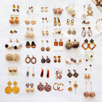 Caramel Color Series Earrings Variety Selection Cute Sweet H...
