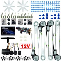 DC12V Auto / Auto Universal 4 Deuren Electronice Power Window Kits met 8pcs / set Switces and Harness