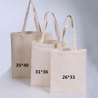 Leere Muster Leinwand Einkaufstaschen Eco wiederverwendbare faltbare Umhängetasche Handtasche Tote Baumwolle Tote Bag Großhandel Custom SN1994