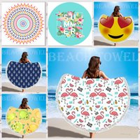 Microfiber Round Beach Towel Tassel Blanket Large Soft Beach...